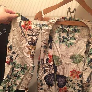 Boohoo floral off the shoulder mini dress